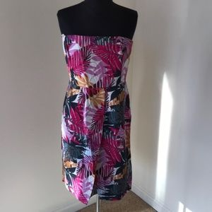 Banana Republic Size 8 Pink Multi strapless dress